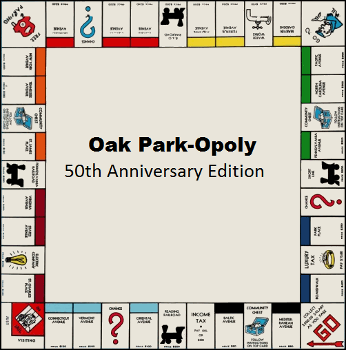 Buy your Oak Park-Opoly Game Board