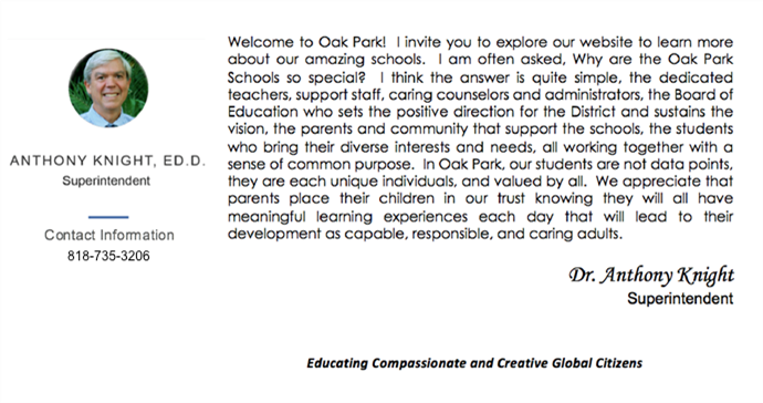 Supt Welcome Message