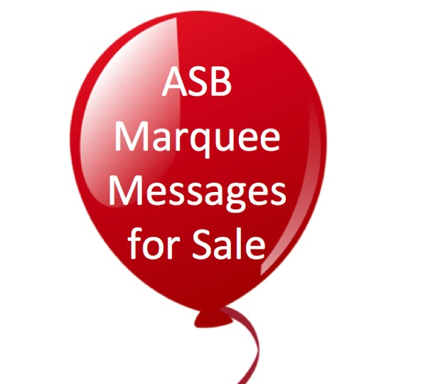 ASB Marquee Messages for Sale