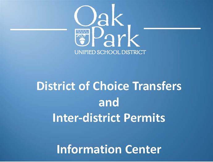 District of Choice and Inter-District Permits Information Center