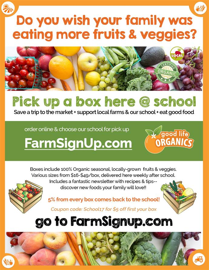 Good Life Organics: Farm to School and Farm to Table!