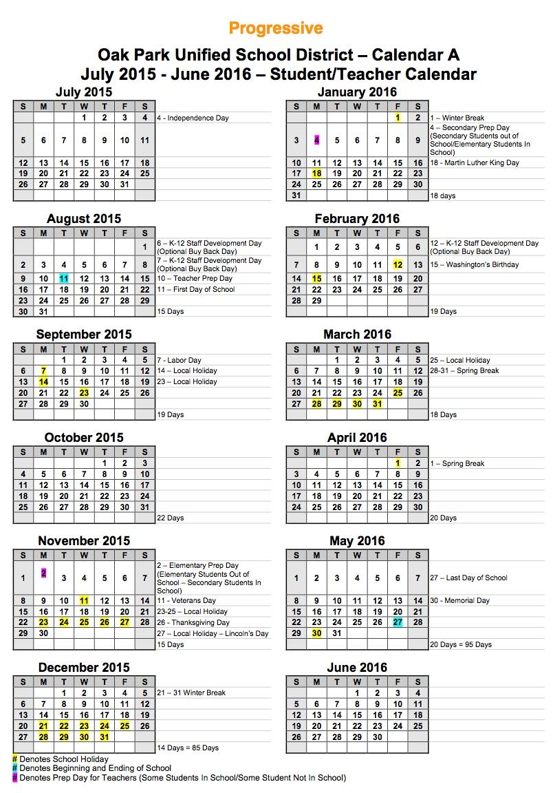 Calendar Survey / Staff Calendar Survey