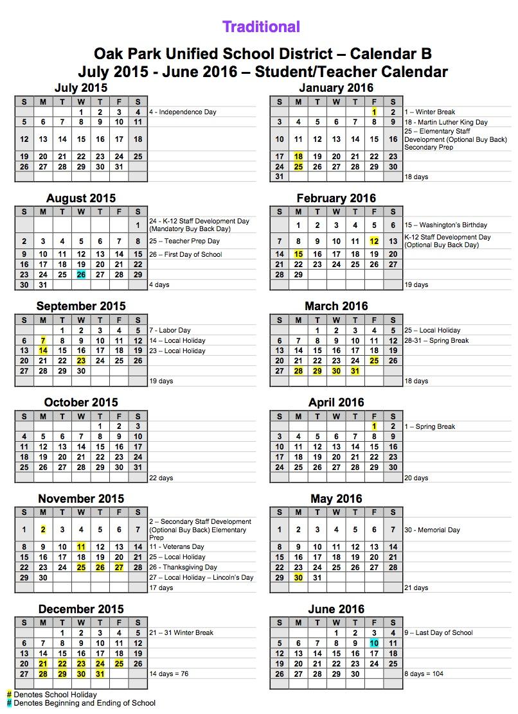 academic calendar template 2017 16
